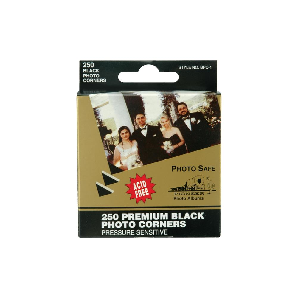 פינות דביקות-Premium Photo Corners Self-Adhesive Black