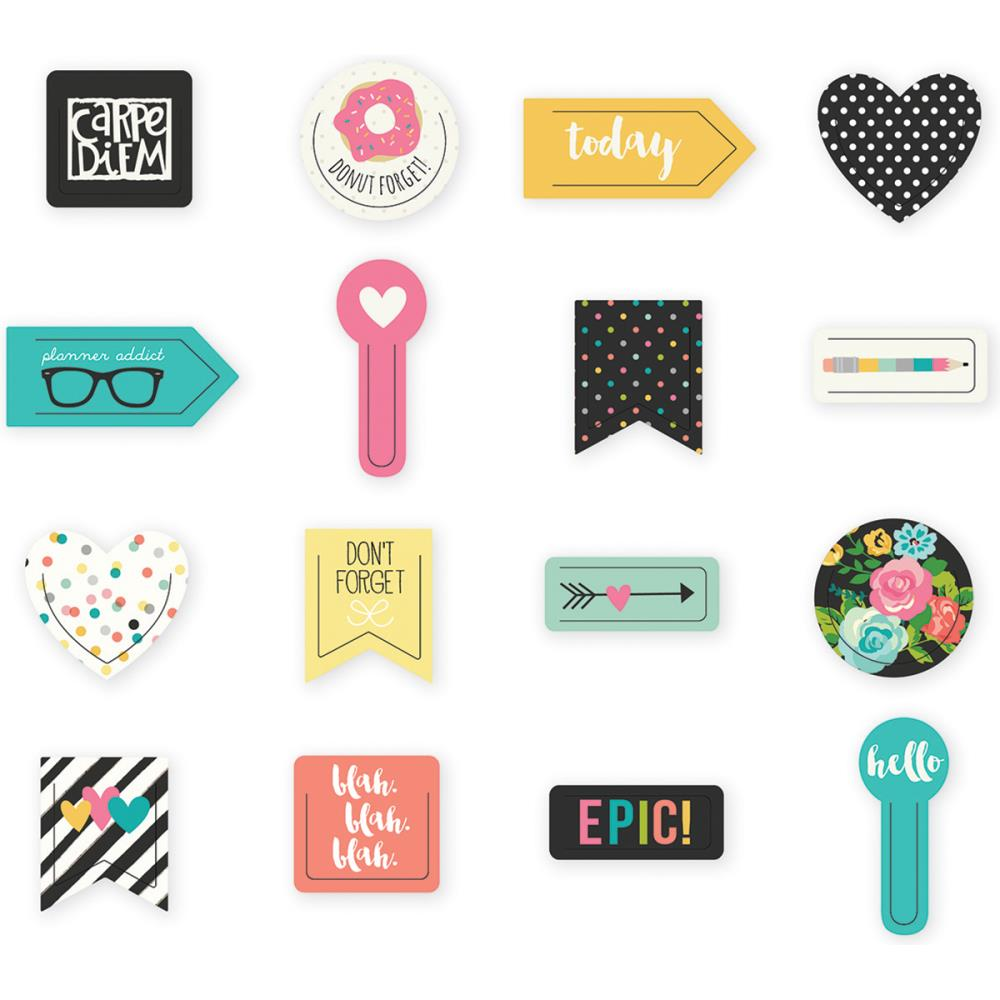 Carpe Diem Decorative Shaped Plastic Clips