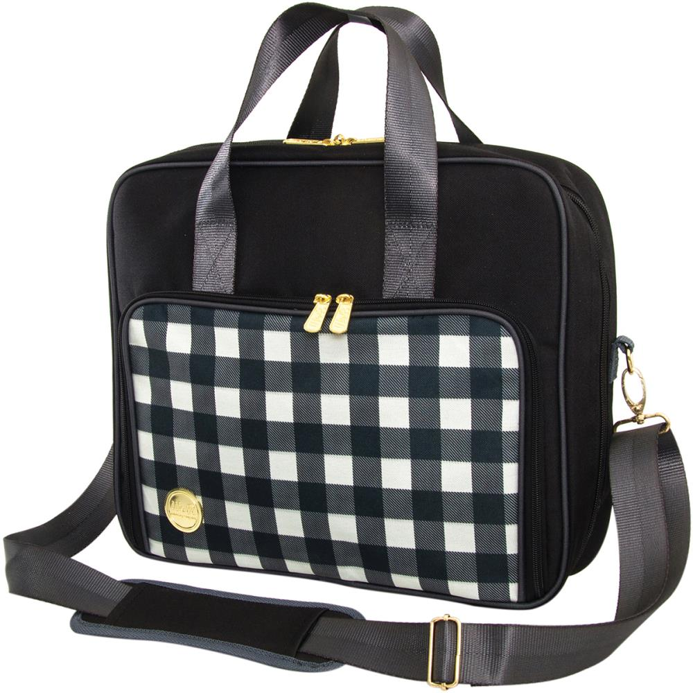 Shoulder Bag Black Plaid