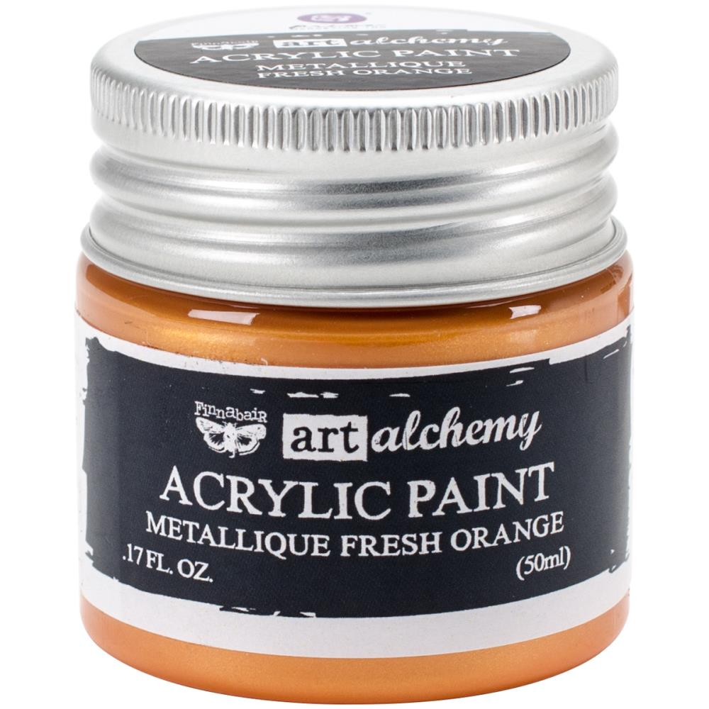 צבע אקרילי- Metallique Fresh Orange