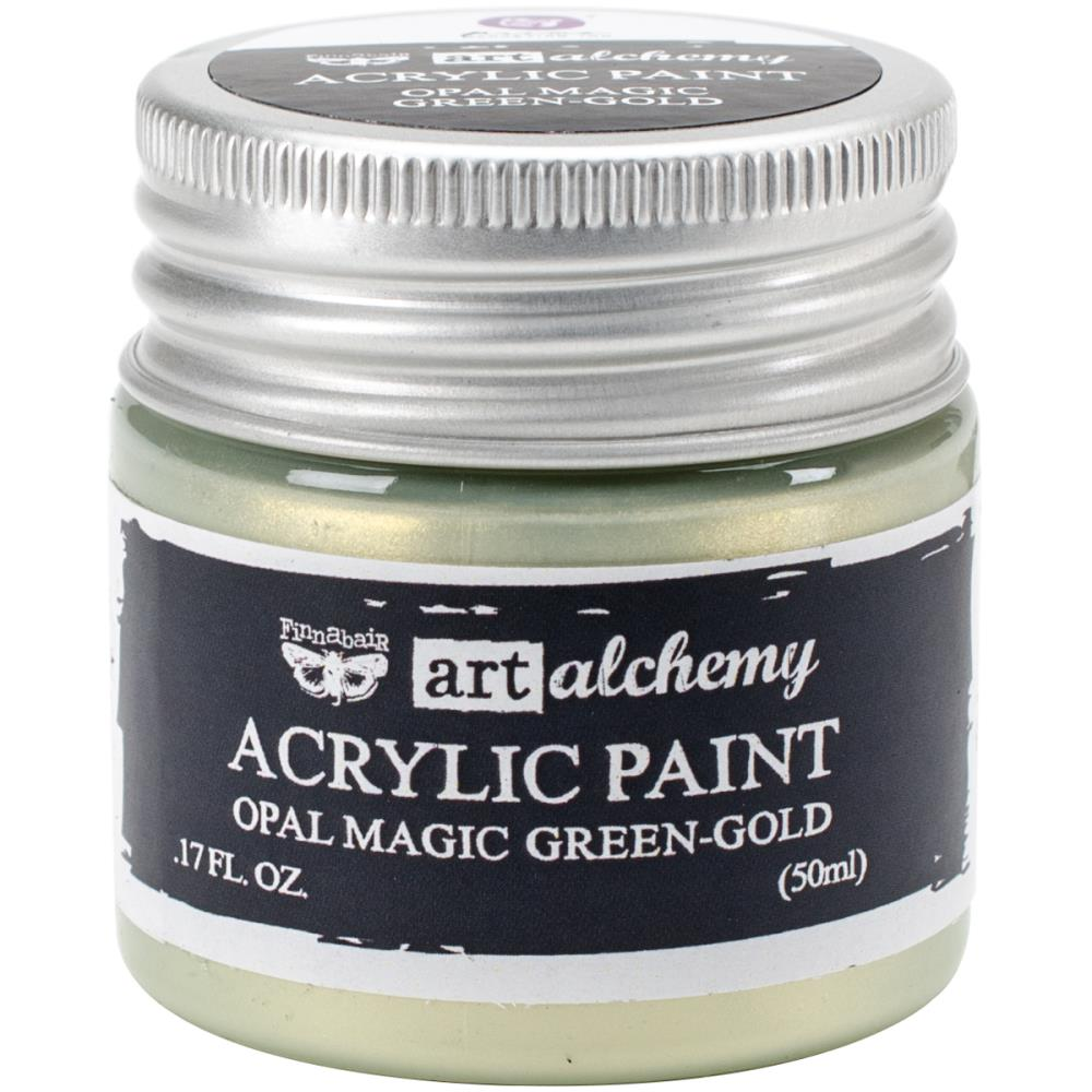 צבע אקרילי- Opal Magic Green/Gold