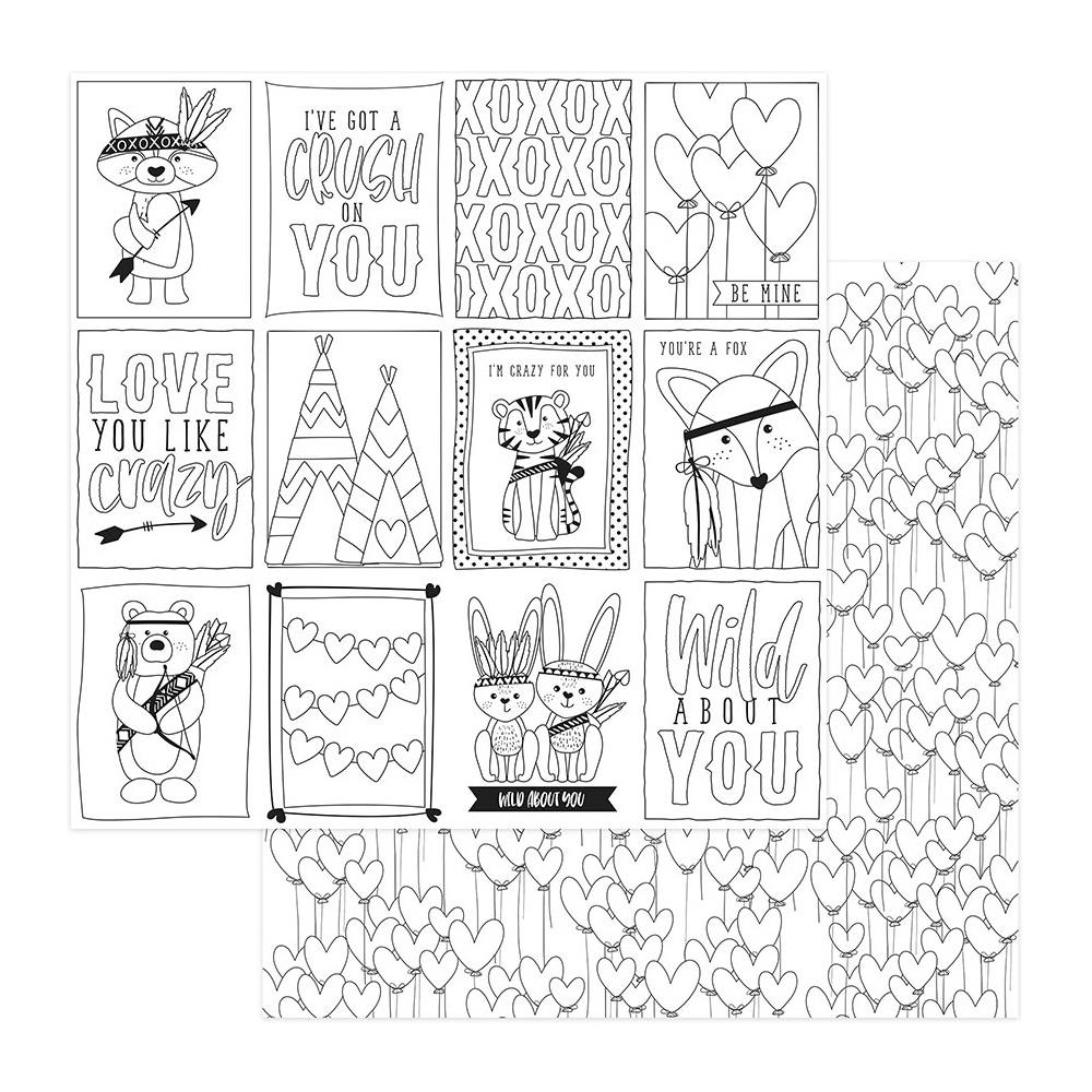 דף קארדסטוק- Black & White Color Me Cards