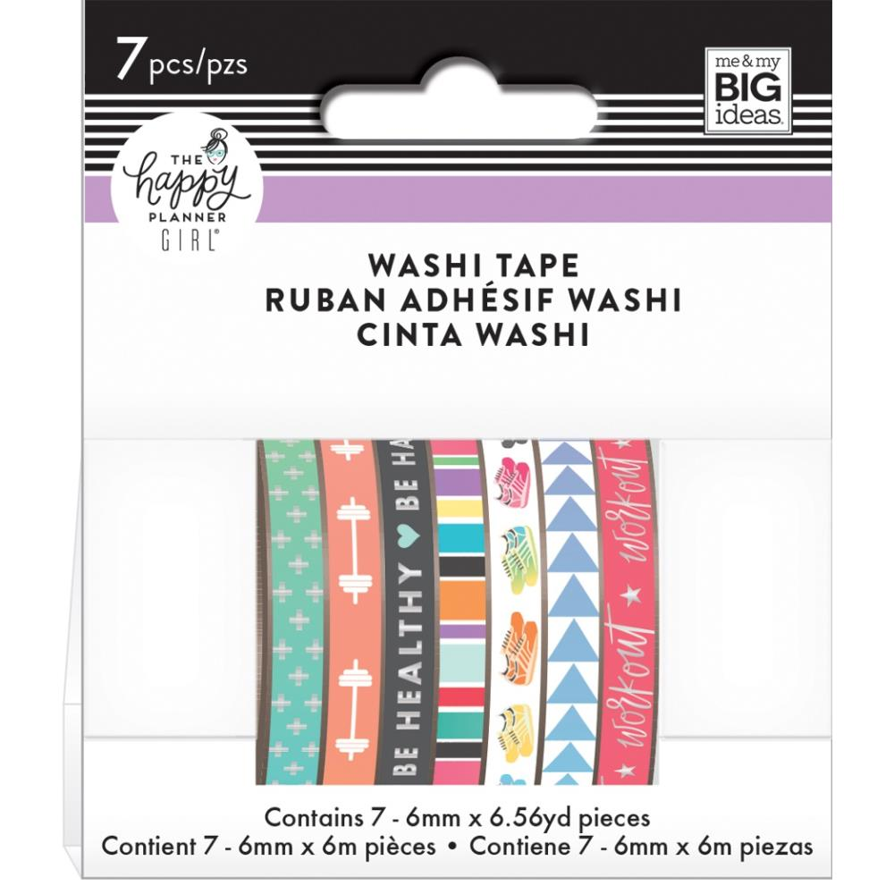 Happy Planner Skinny Washi Tape Healthy Hero