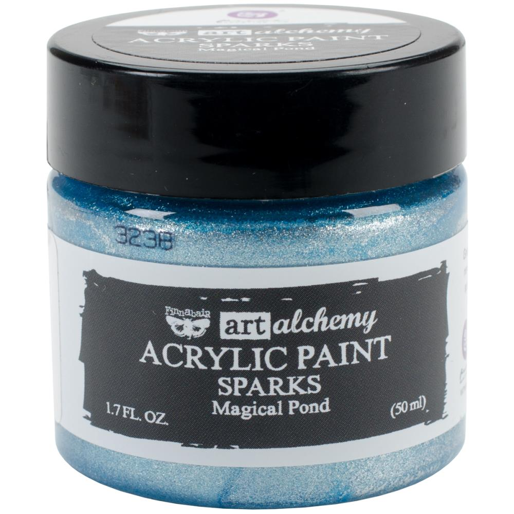 Finnabair Art Alchemy Sparks Acrylic Paint- Magical Pond