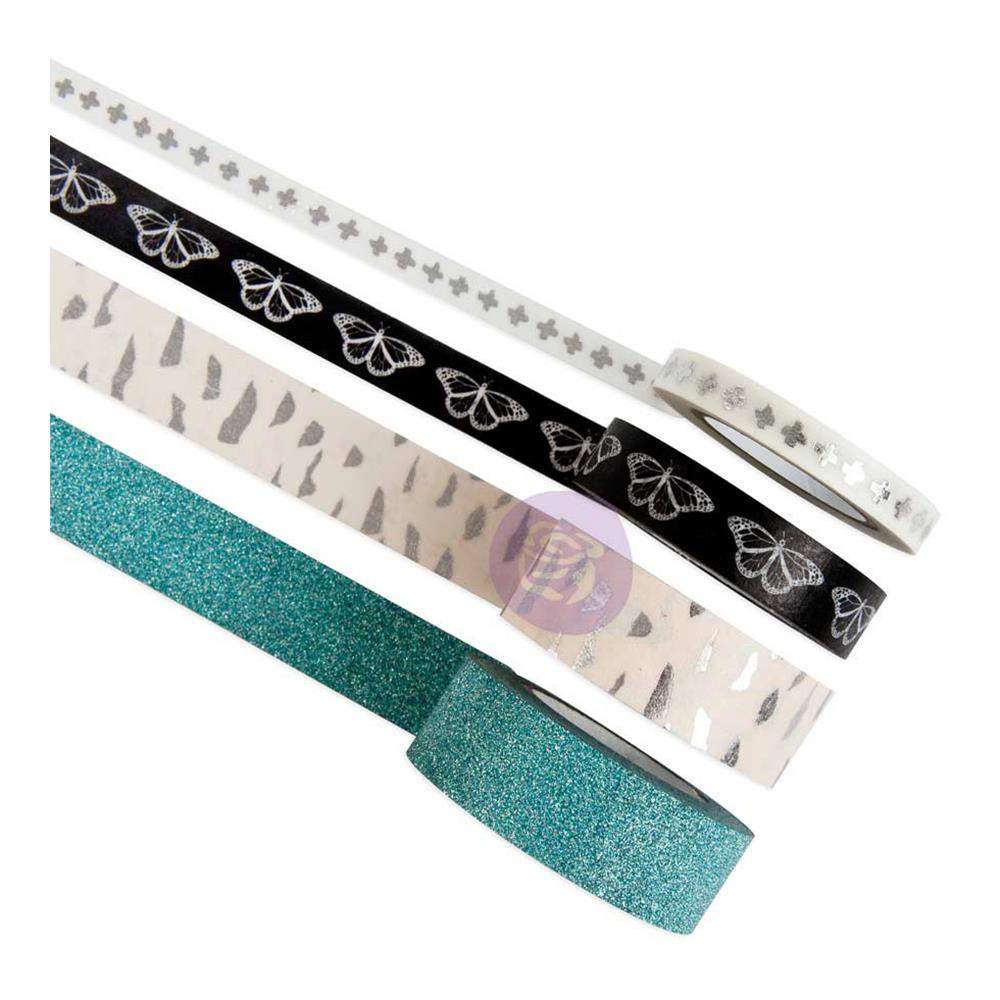 Zella Teal Decorative Tape-Printed & Glitter
