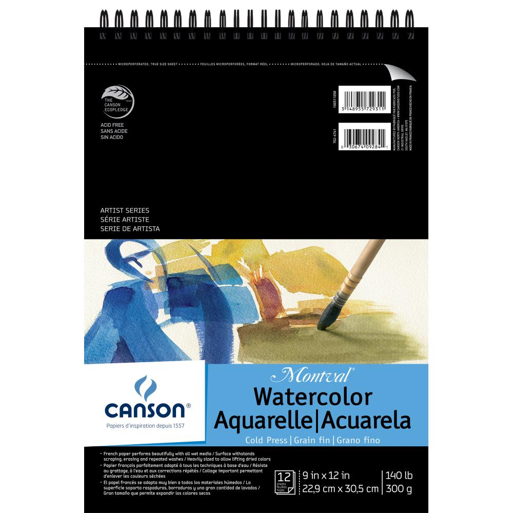 Canson Montval Spiral Watercolor Pad