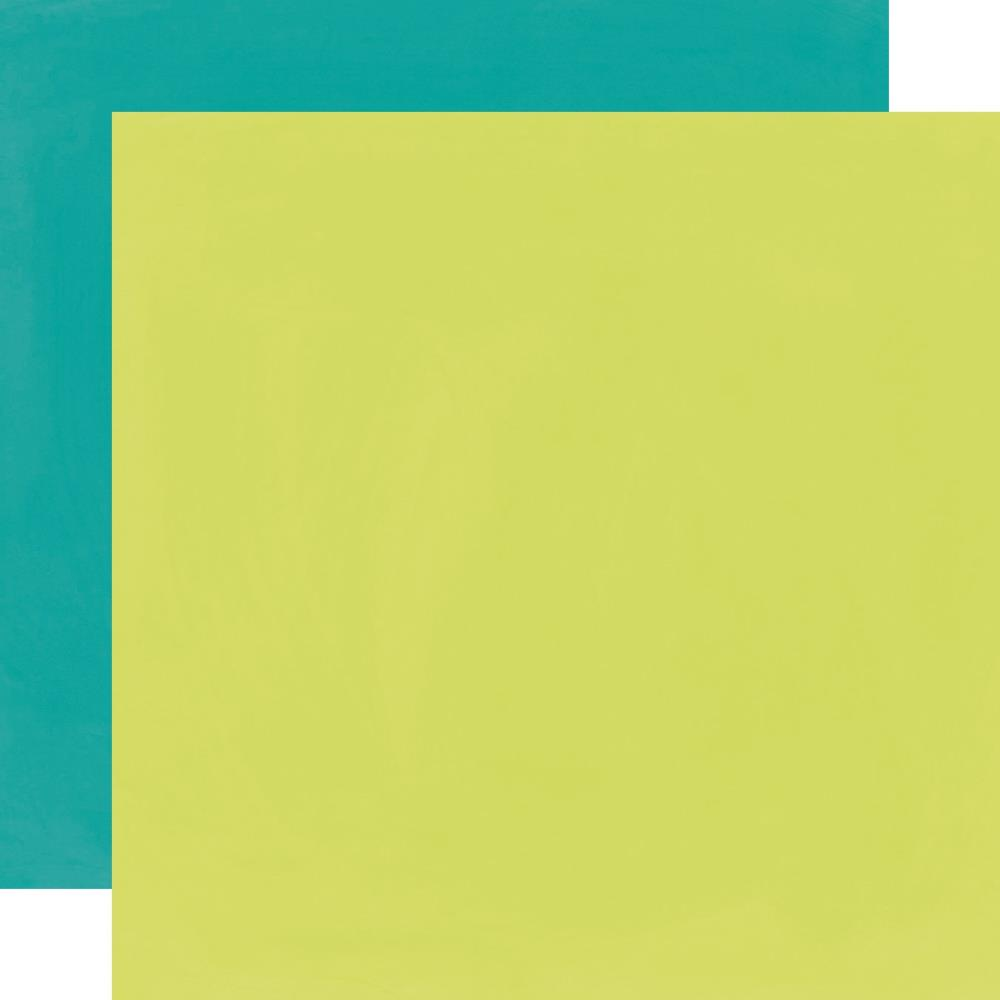 דף קארדסטוק- Teal/Lime Simple Basic