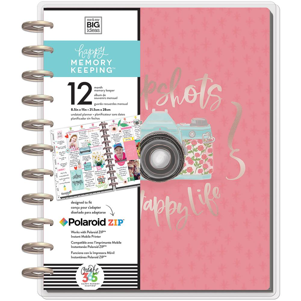 Happy Memory Keeping Undated 12-Month Big Planner