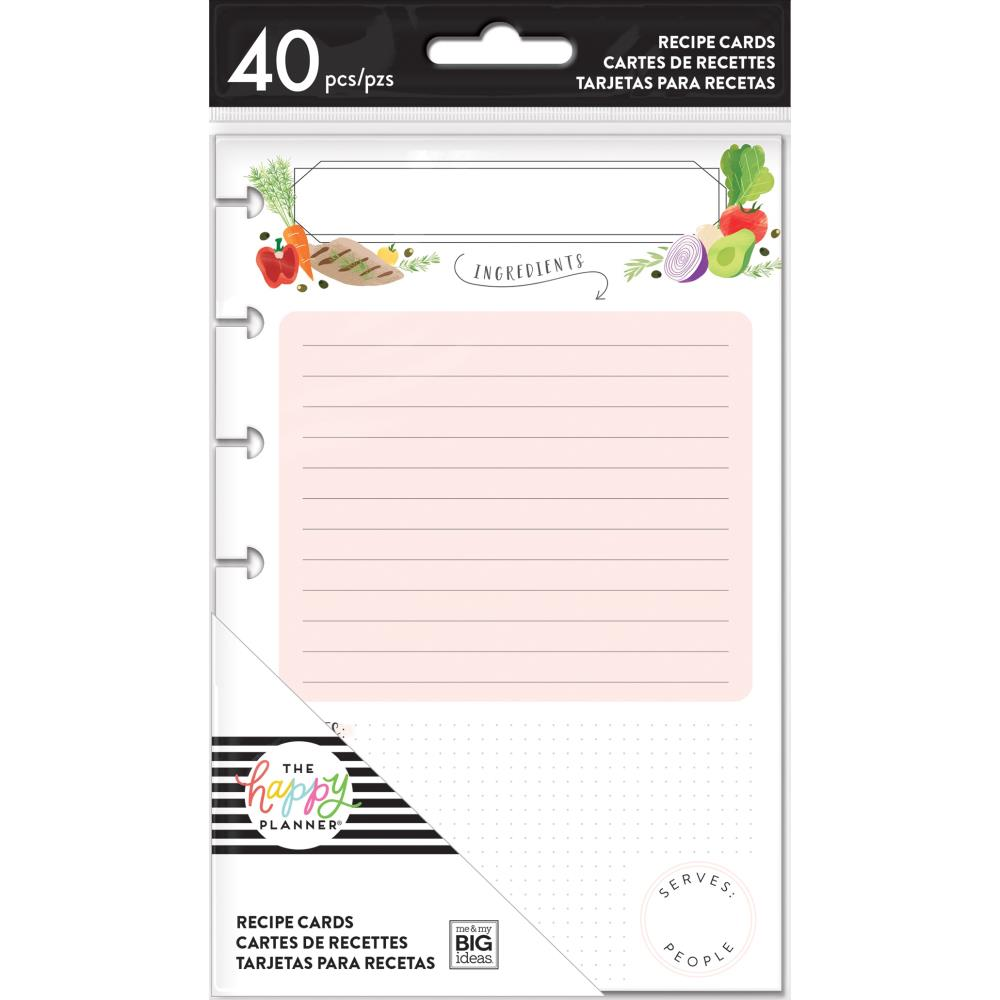 Happy Planner Recipe Cards