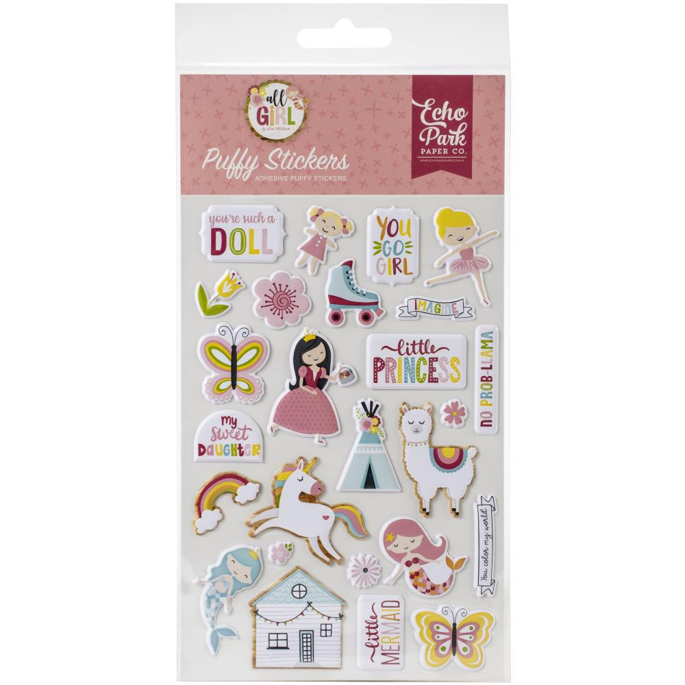 Puffy Stickers- All Girl