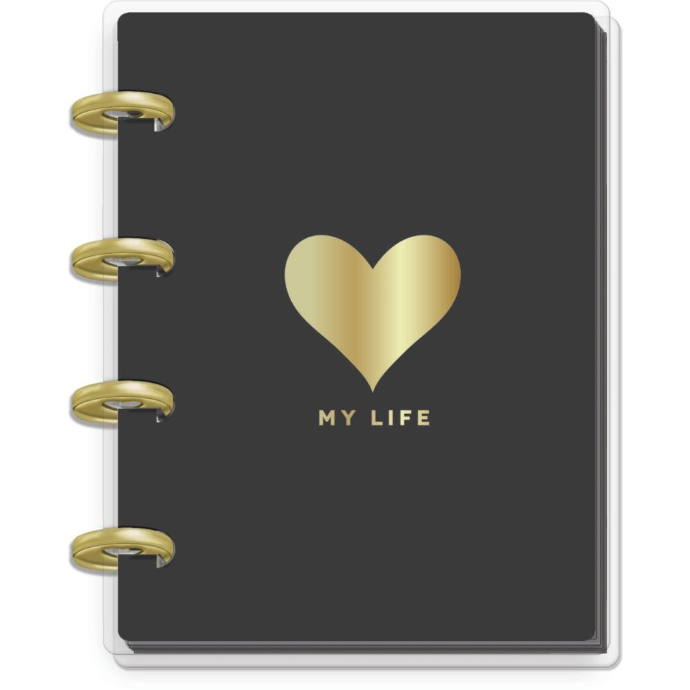 MICRO MEMO BOOK- Gold Heart Lined